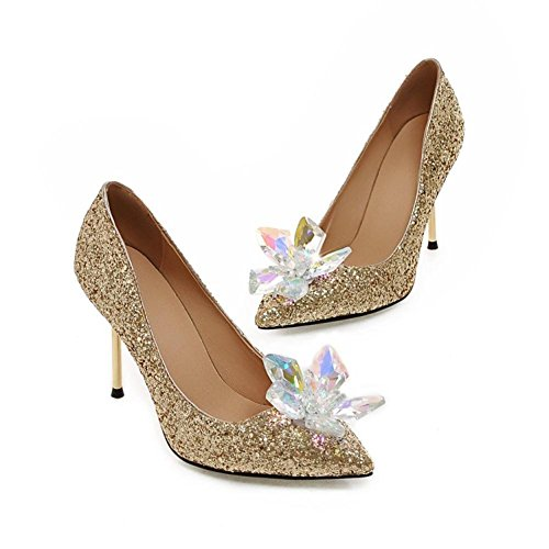 Gold Solido Sposa Colore Bella 37 Puntati Highxe Moda Da Tacchi 38 Alti Scarpe Di nwARX8q7Hx