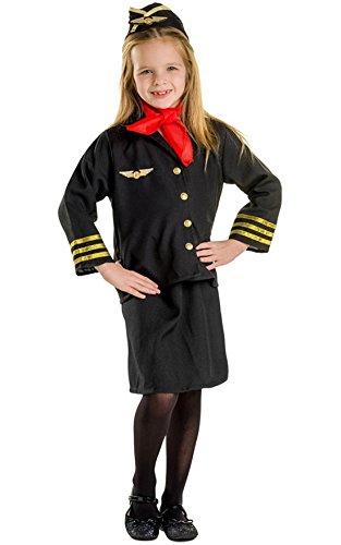 Flight Attendant Fancy Dress (Flight Attendant Children's Costume Set for Girls Size: Toddler 2)