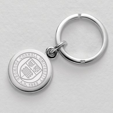 Cornell Sterling Silver Insignia Key Ring by M. LaHart