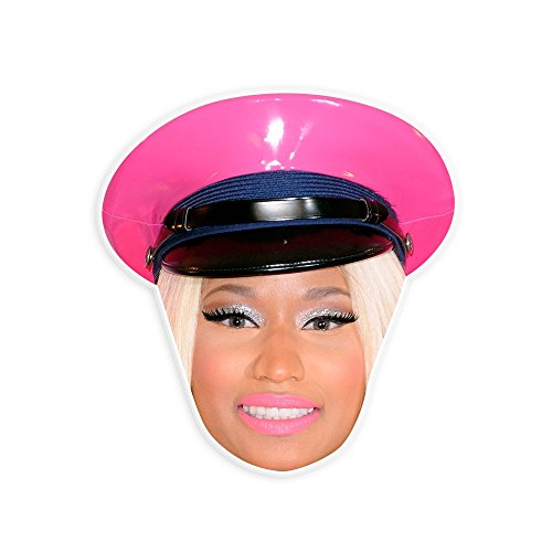 Glamorous Nicki Minaj Mask - Perfect for Halloween, Masquerade, Parties, Events, Concerts - Jumbo Size Waterproof