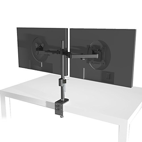 Wali Dual Lcd Monitor Desk Mount Stand Fully Adjustable