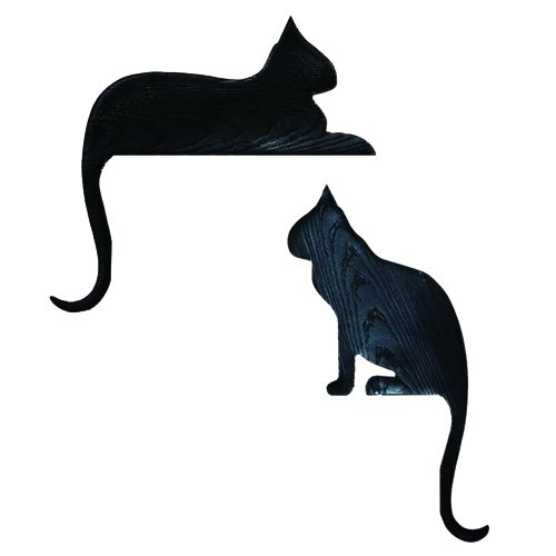 Frame Topper - Silhouette black Cats SITTER and RESTER Door and Window Topper