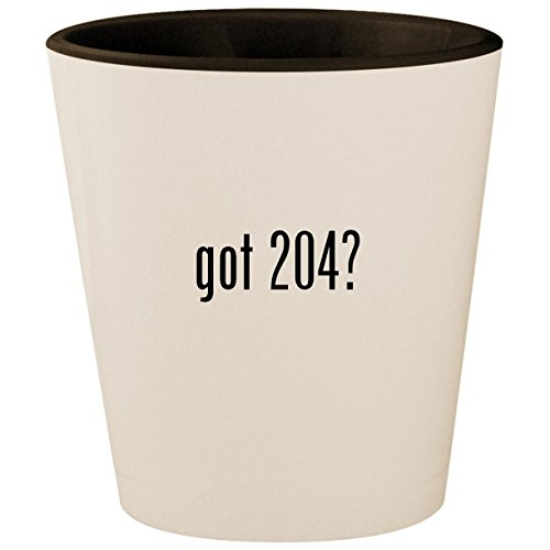 (got 204? - White Outer & Black Inner Ceramic 1.5oz Shot Glass)