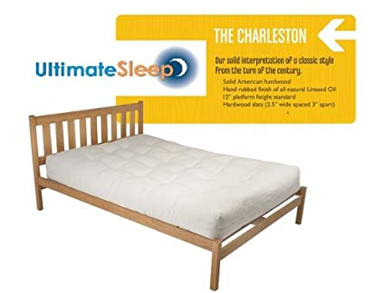 Amazon Com The Charleston Sustainable Wooden Bed Frame Oak Or