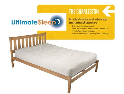 The Charleston Sustainable Wooden Bed Frame - Oak or Maple in Twin, TwinXl, Full, Queen, King & Cal King Sizes - Made in the USA (Red Oak, King) ()