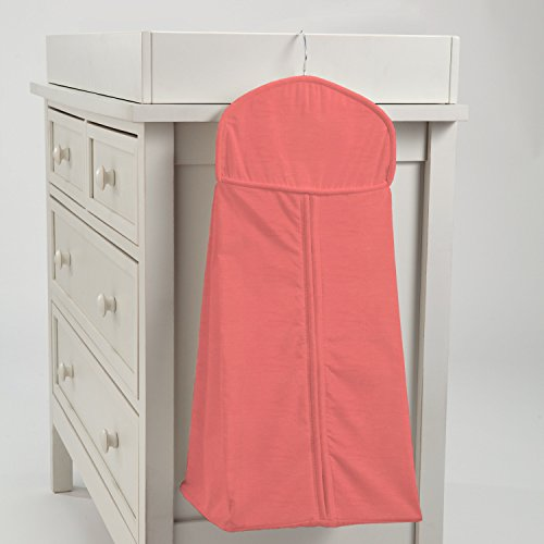Carousel Designs Solid Coral Diaper Stacker