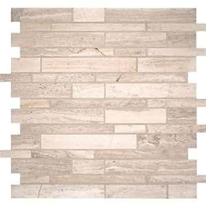 Ms international white quarry interlocking 12 for International decor tiles