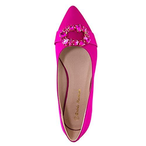 Machado donna rosa Andres satinato per Ballerine dqfTZ1