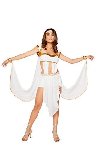 Greek Goddess Costume - Small - Dress Size White/Gold]()