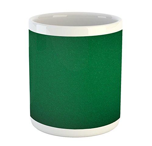 Lunarable Hunter Green Mug, Digitally Created Plain Surface Vegas Color Holdem Artful Picture Print, Printed Ceramic Coffee Mug Water Tea Drinks Cup, Hunter Green