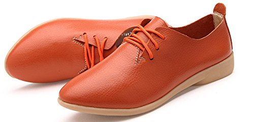 Femme Aisun Derbies Orange Pour Jeune Basse Chaussures Travail Mode U1d6H