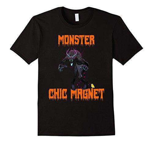 Mens Funny Halloween Monster Chick Magnet T-Shirt Medium (Funny Chick Magnet Costume)