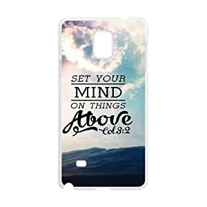 Jesus quotes Custom Case for Samsung Galaxy Note 4, Personalized Jesus quotes Case