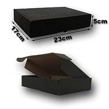 Cajas Postales automontables Microcartón kraft. Color exterior NEGRO. Pack 25 unidades: Amazon.es: Oficina y papelería