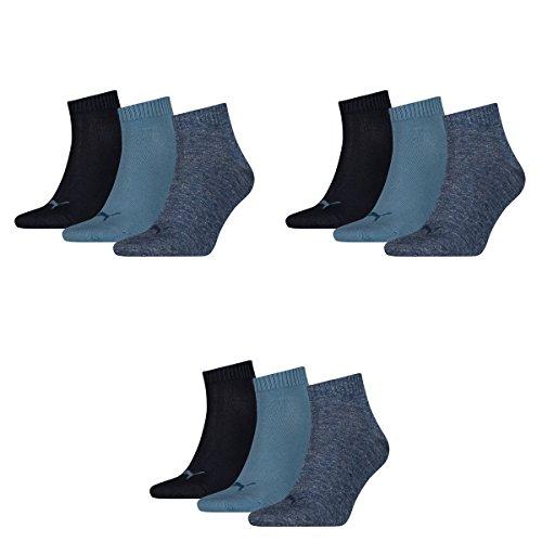 3 pair Puma Sport Socken Short Crew Tennis Socks Gr. 35 - 49 Unisex 460 denim blue