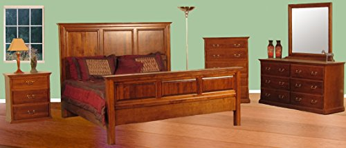 - Forest Designs Traditional Eastern King Panel Bed & Dresser & Mirror & Chest & Nighstand Queen Unfinished Alder