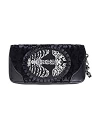 Banned Ivy Black Ribcage Lace Wallet - Black / One Size