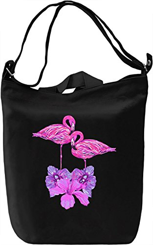 Flamingo Borsa Giornaliera Canvas Canvas Day Bag| 100% Premium Cotton Canvas| DTG Printing|
