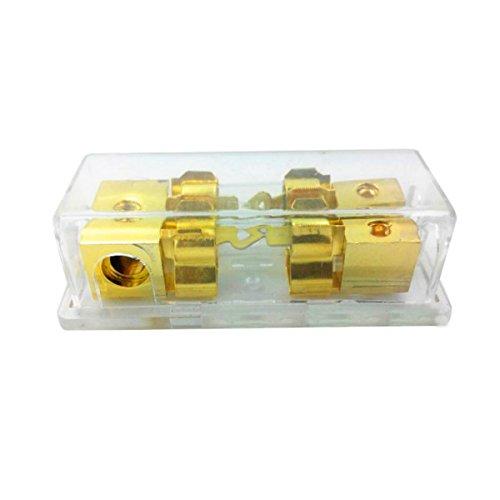 YONGYAO Caja De Fusibles para Coche 60A 1 Entrada 2 Salida para Modificació n De Audio