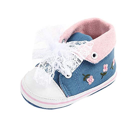 Baby Girls Toddler Flower Lace Canvas Sneakers First Walkers Soft Shoes 35