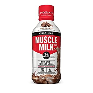 Muscle Milk Original Protein Shake, Chocolate, 34g Protein, 17 FL OZ (Pack of 12)