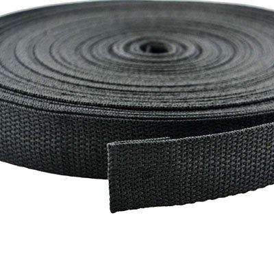 Blue Elf® 25 Yards 1 inch Wide Black Nylon Heavy Webbing Strap with free Cable Organizer