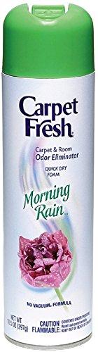 Carpet Fresh No Vacuum - Carpet Fresh No Vacuum Foam Carpet Refresher, Morning Rain 10.50 oz (Pack of 3)