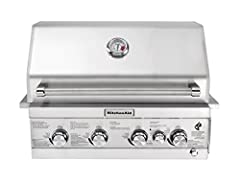 This handsome KitchenAid 30 in. Built-In Gas Grill Head is constructed with premium corrosion-resistant materials for durability and ease of upkeep. Boasting 775 sq. in. of total cooking space, this unit thrusts up to 61,000 BTUs of fire-roas...
