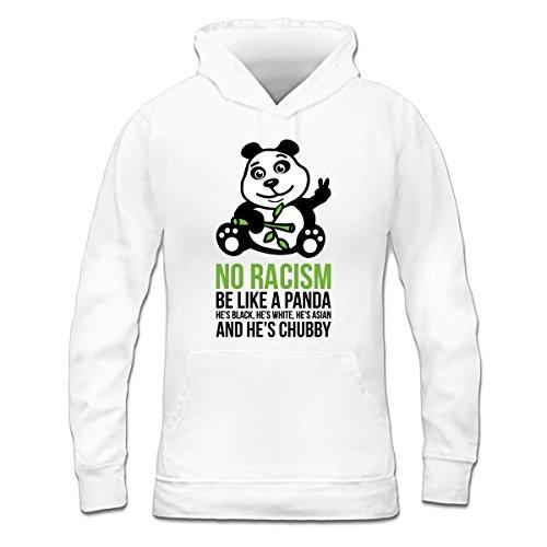 Sudadera con capucha de mujer No Racism Be Like A Panda by Shirtcity Blanco