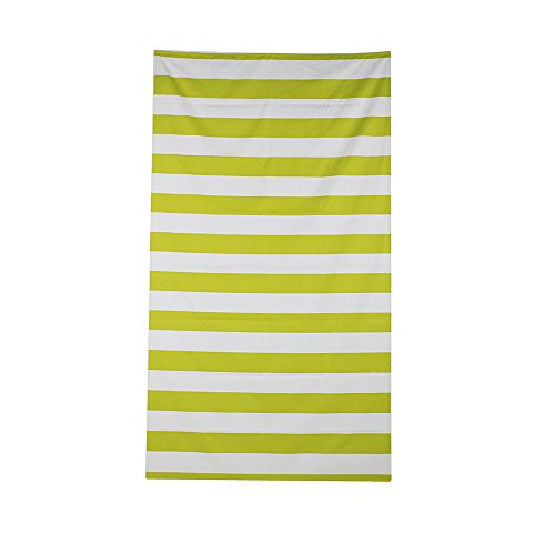 Microfiber Beach Towel Didihou Cabana Striped Quick Dry Bath Towel Blanket Pool Swim Camping Towel Lightweight for Adult & Kids (Green, 35