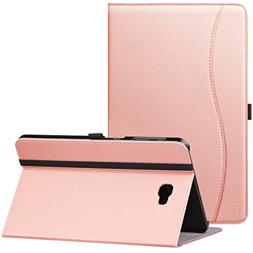 ung Galaxy Tab A 10.1(2016 NO S Pen Version) - Leather Folio Cover for Samsung 10.1 Inch Tablet SM-T580 T585 with Auto Wake/Sleep and Card Slots, Multiple Viewing Angles,Rose Gold ()