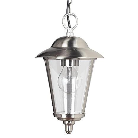 Endon - Lámpara de techo colgante tipo farol (acero ...