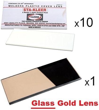 "Harris Welding Helmet//Hood Clear Lens Cover 2/"" x 4.25/"" 100 pack 1010010"