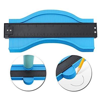 10in Contour Profile Gauge Duplicator - Ezgauge Master Outline Gauge -Woodworking Shape Tracing Instant Template Measuring Tool -Jig Guide Ruler -Easy Tile Frame Figure Gauge -Gift for Men Dad Husband