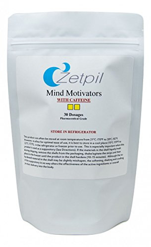Zetpil Mind Motivator, Supports Memory, Focus, Caffeine, Macuna, L-Tyrosine, Huperzine A, MCHP, Theobromine, Vincamine, Phosphatidylcholine, B Complex, Mixed Tocopherols, and More! 30 Suppositories -  MM01
