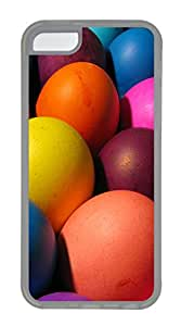 iPhone 5C Case, iPhone 5C Cases - Colorful Easter Eggs 2 Polycarbonate Hard Case Back Cover for iPhone 5C¨C Transparent