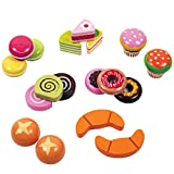 Wooden Bakery Playset Pretend Stand for Kids - 25