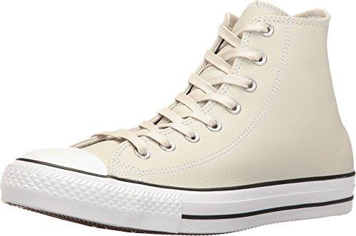 - Converse Mens Unisex Chuck Taylor All Star Leather Hi Top Fashion Sneaker Shoe, Buff/Shadow, 9.5