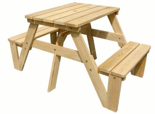 Lohasrus Kids Picnic Table, Natural
