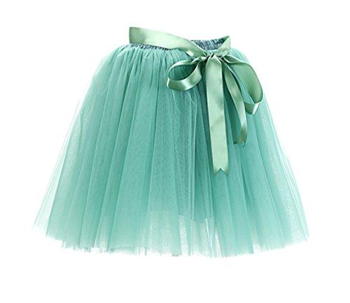 Mi Vert Jupon Lumire Femme Couches Petticoat longue Pliss Tulle Pettiskirt 8 Jupe Tutu Courte jupon Jupe En Ballet TwqnxTv4aP