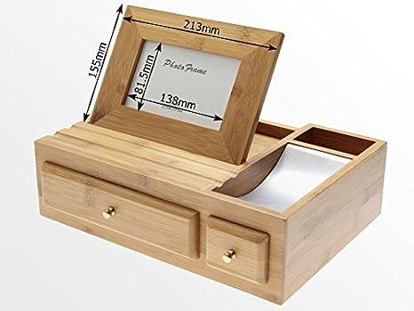 Officemate organiseur multimédia de bureau en bois distributeurs