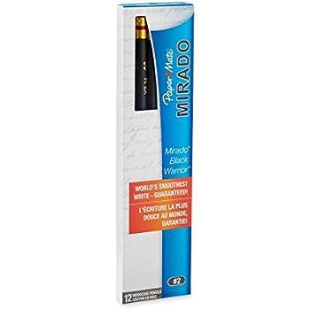 Paper Mate Mirado Black Warrior Pencils, Black, HB #2, 12 Count