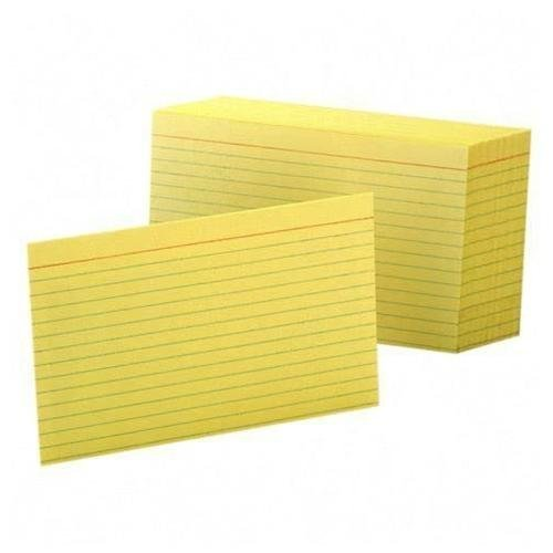 - Oxford Colored Ruled Index Cards Canary 100/ pack (4x6) by Oxford