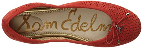 Sam Edelman Donna Felicia 2 Balletto Piatto Havana Rosso Camoscio