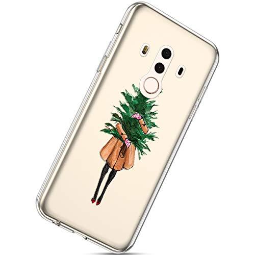 Anti Bumper Mate Noël Herbests Mince Coque Transparent Motif noël 10 Choc Pro Huawei Pour Ultra Housse 10 9 Pro Clear Case Silicone Avec xTSpTZ