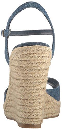 Frauen Lillith Offener Zeh Leger Leinen Sandalen mit Keilabsatz Blau Groesse 9 US/40 EU Carlos By Carlos Santana SR7yjWIq
