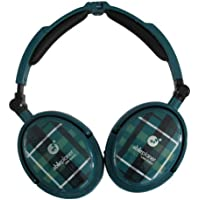 Able Planet XNC230 Extreme Foldable Noise Canceling Headphones (Green Plaid)