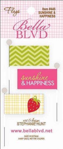 UPC 812651014455, Sunshine & Happiness Stick Pin Paper Flags 3/Pkg-