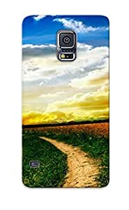 Grass Galaxy S5 Cover Case Green Design - Eco-friendly Packaging(nature Landscape) by icecream design