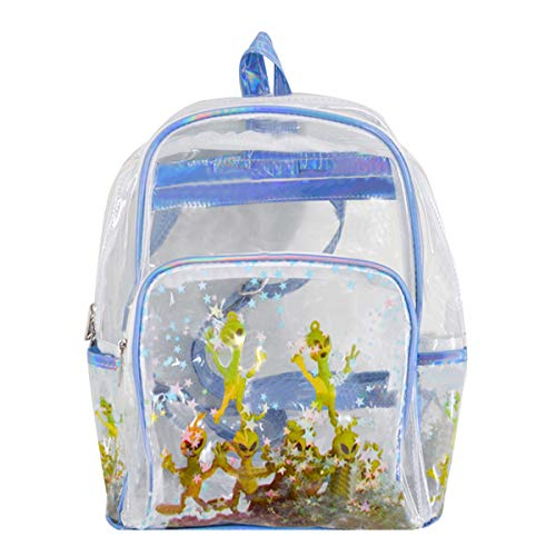 - YAOSEN Fashion Sequins Star Daypack Mini Double Shoulder Backpack Shiny Bling Backpack (Transparent)